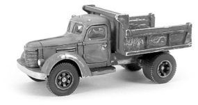 GHQ 1950s International Dump Truck (Unpainted Metal Kit) N Scale Model Railroad Vehicle #56017