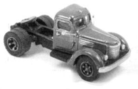 GHQ 1940 International Truck Tractor (Unpainted Metal Kit) N Scale Model Railroad Vehicle #56019