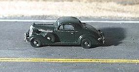 GHQ 1936 Buick Coupe (Unpainted Metal Kit) N Scale Model Railroad Vehicle #57003
