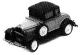 GHQ Ford Model A Tudor Coupe (Unpainted Metal Kit) N Scale Model Railroad Vehicle #57004