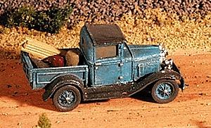 GHQ Ford 1930 Model A Pickup (Unpainted Metal Kit) -- N Scale Model Railroad Vehicle -- #57006