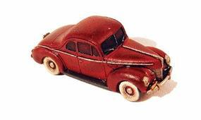 GHQ 1940 Ford Coupe (Unpainted Metal Kit) N Scale Model Railroad Vehicle #57010