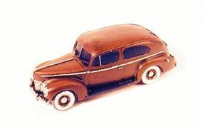 GHQ 1940 Ford 2-Door Sedan (Unpainted Metal Kit) N Scale Model Railroad Vehicle #57012