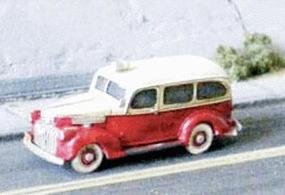 GHQ 1941 Chevrolet Ambulance (Unpainted Metal Kit) N Scale Model Railroad Vehicle #57017