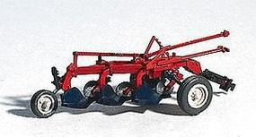 GHQ Red Little Gem 3-Bottom Plow (Unpainted Metal Kit) HO Scale Model Vehicle #60003