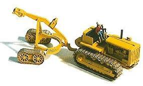 GHQ 1940s D8/8R Crawler Tractor w/Logging Arch (Unpainted Metal Kit) HO Scale Model Vehicle #61004
