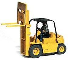 GHQ V80E Forklift w/Operator Figure (Unpainted Kit) HO Scale Model Railroad Vehicle #61007