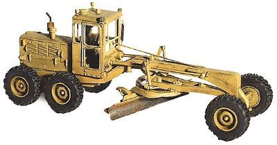GHQ 120 Road Grader w/Operator Figure (Unpainted Metal Kit) HO Scale Model Vehicle #61008