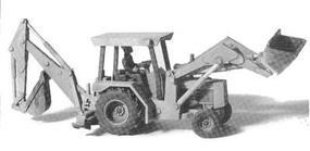 GHQ 310 A Backhoe w/Operator Figure (Unpainted Metal Kit) HO Scale Model Vehicle #61010