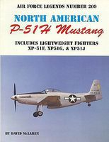 GinterBooks Air Force Legends- North American P51H Mustang Military History Book #209