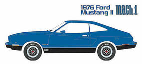 Green-Light 1976 Mustang II Mach 1 Blue Diecast Model Car 1/18 Scale #12868