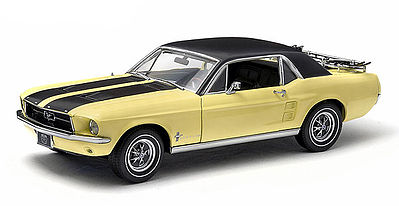 Green Light Collectibles 1967 Ford Mustang Coupe -- Diecast Model Car -- 1/18 Scale -- #12925