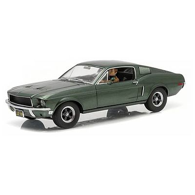 Green Light Collectibles 1968 Mustang Bullitt -- Diecast Model Car -- 1/18 Scale -- #12938