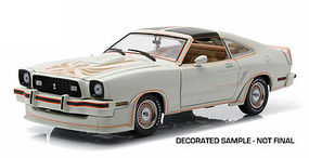 Green-Light 1978 Mustang II King Cobra White Diecast Model Car 1/18 Scale #12939