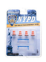 Green-Light NYPD Road Accessory Pack #1 Diecast Model Accessory 1/64 Scale #13068