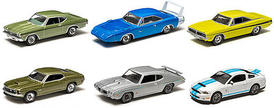 Green Light Collectibles Muscle Series 9 (6) -- Diecast Model Car -- 1/64 Scale -- #13090