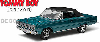 Green-Light 1967 Tommy Boy Plymouth GTX Diecast Model Car 1/18 Scale #19005