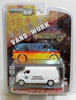 Green-Light 1976 Dodge B-100 Van Animal Control Diecast Model Truck 1/64 Scale #29782
