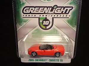 Green Light Collectibles 10th Anniversary 2005 Corvette C6 -- Diecast Model Car -- 1/64 Scale -- #29789