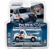 Green-Light 2013 Intl Tow Truck White/Flames Diecast Model Truck 1/64 Scale #29796