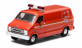 Green-Light 1976 Dodge B-100 Van FDNY Diecast Model Truck 1/64 Scale #29804