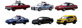 Green-Light Hot Pursuit Series 13 (6) Diecast Model Car Set 1/64 Scale #42700