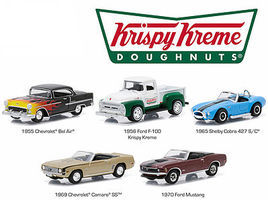 Green-Light Motor World Krispy Kreme (5) Diecast Model Car Set 1/64 Scale #58023
