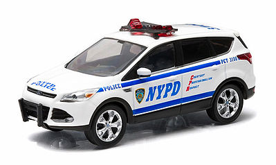 Green Light Collectibles 2014 Ford Escape NYPD -- Diecast Model Truck -- 1/43 Scale -- #86070