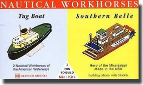 Glencoe Nautical Workhorses Tug & Mississippi Southern Belle Plastic Model Ship Kit 1/400 #03302