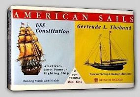 Glencoe USS Constitution and Gertrude L. Thebaud Plastic Model Sailing Ship Kit #03303