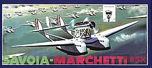 Glencoe Models Savoia Marchetti 55X Dbl-Hulled Italian Flying Boat -- Plastic Model Airplane Kit -- 1/96 -- #05503