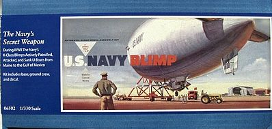 Glencoe Models US Navy Blimp -- Plastic Model Airplane Kit -- 1/330 Scale -- #06502