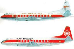Glencoe VICKERS VISCOUNT AIR CANADA Plastic Model Airplane Kit 1/96 Scale #06511