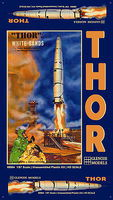 Glencoe THOR Missle & Launch Pad 1-87 Science Fiction Plastic Model #08904