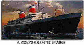 Glencoe SS United States Ocean Liner Plastic Model Commercial Ship Kit 1/400 Scale #09301