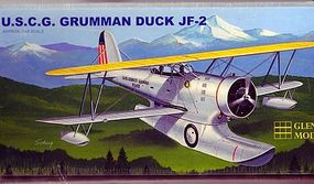 Glencoe Duck J2F2 Amphibian BiPlane Plastic Model Airplane Kit 1/48 Scale #5125