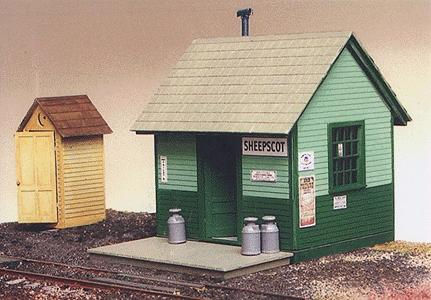 Grandt Sheepscot Station Kit O Scale Model Railroad Building #3580