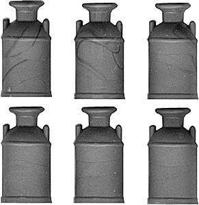 Grandt Milk Cans pkg(6) O Scale Model Railroad Building Accessory #3582