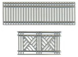 Grandt Decorative Iron Railing Set of 2 (2) O Scale Model Railroad Building Accessory #3585