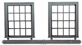 Grandt Window Double Hung 35x45 8 over 8 (4) O Scale Model Railroad Building Accessory #3773
