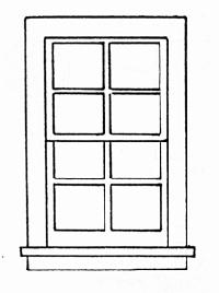 Grandt Line Products Inc 28 x 52'' Double Hung Window 8-Pane -- G Scale Model Railroad Building Accessory -- #3932