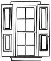 Grandt Paneled Shutters 2 Pair Fit #3930/33 Windows G Scale Model Railroad Building Accessory #3958