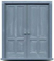 Grandt 4-Panel Double Doors w/Frame 1 Set G Scale Model Railroad Building Accessory #3964