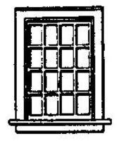 Grandt 16 Pane Double Hung Window (8) HO Scale Model Railroad Building Accessory #5032