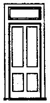 Grandt Line Products Inc D&RGW Station Door w/Frame & Transom (3) -- HO Scale Model Railroad Building Accessory -- #5058