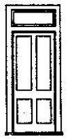 Grandt D&RGW Station Door w/Frame & Transom (3) HO Scale Model Railroad Building Accessory #5058