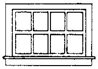 Grandt Line Products Inc Horizontal Siding Window (8) -- HO Scale Model Railroad Building Accessory -- #5081
