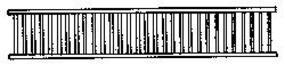 Grandt Porch/Lanai Railing (6) HO Scale Model Railroad Building Accessory #5083