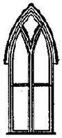 Grandt Gothic Church & Residence Window (4) HO Scale Model Railroad Building Accessory #5087
