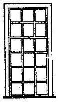 Grandt 18 Pane Engine House Window (6) HO Scale Model Railroad Building Accessory #5097